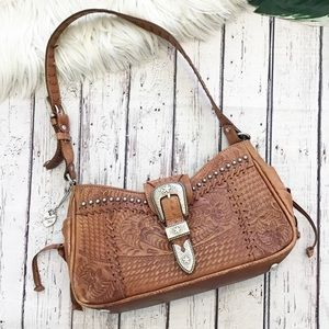 AMERICAN WEST leather embossed purse